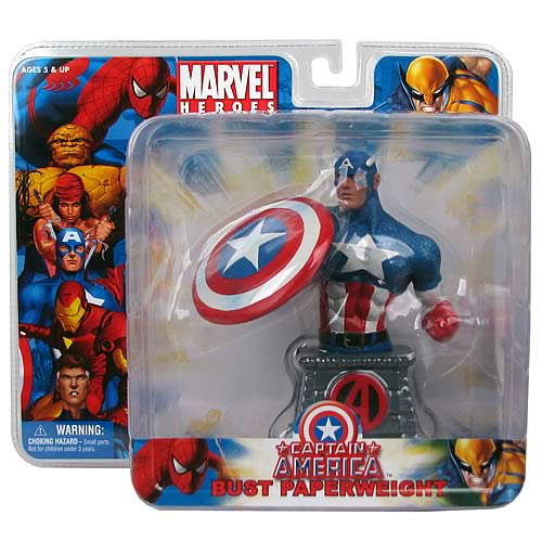 Captain America Resin Bust Paperweight