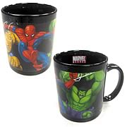 Marvel Heroes Color Change Decal Mug