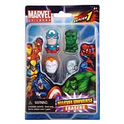 Marvel Figural Eraser 4-Pack Set A