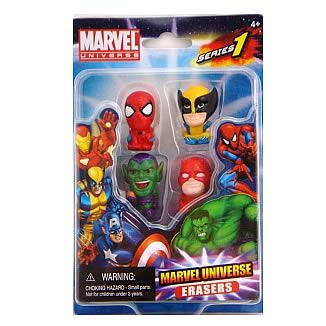 Marvel Figural Eraser 4-Pack Set B