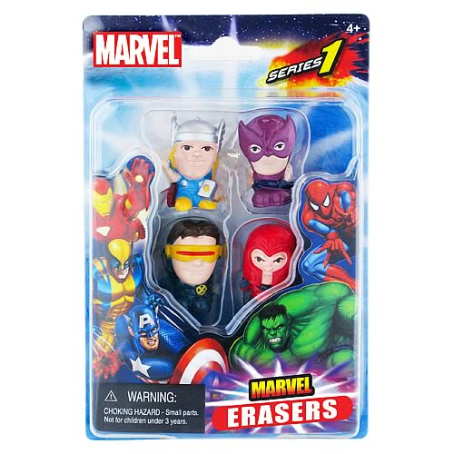 Marvel Figural Eraser 4-Pack Set D