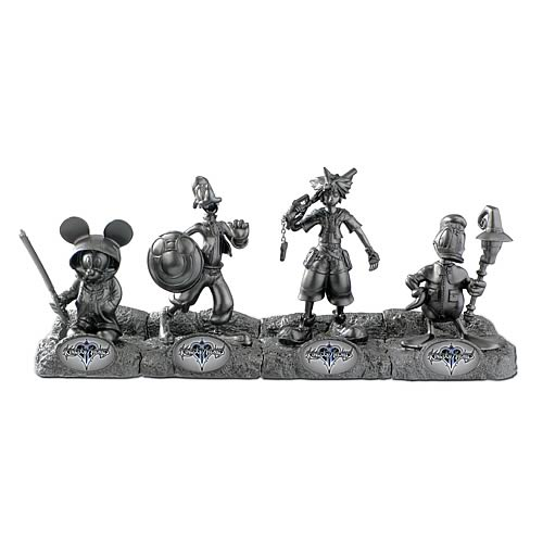 Kingdom Hearts 2012 SDCC Exclusive Mini-Statue 4-Pack