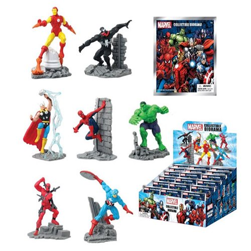 Marvel Diorama Blind Bag Display Box