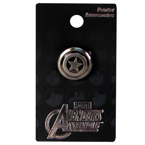 Captain America Shield Pewter Lapel Pin
