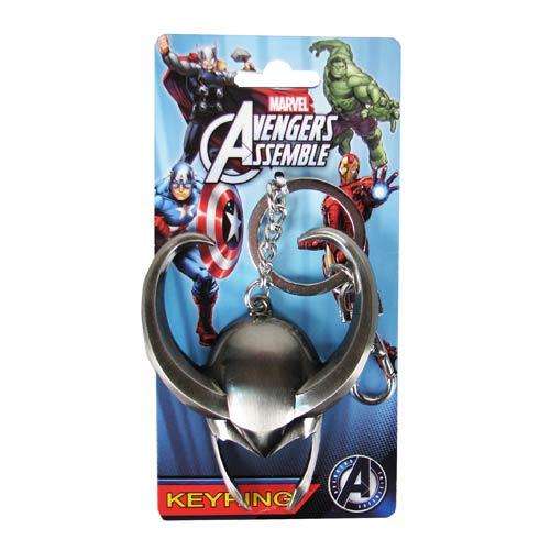 Avengers Loki Helmet Pewter Key Chain