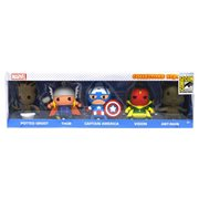 Marvel 3D Foam Key Key Chain Collector 5-Pack - SDCC 2015