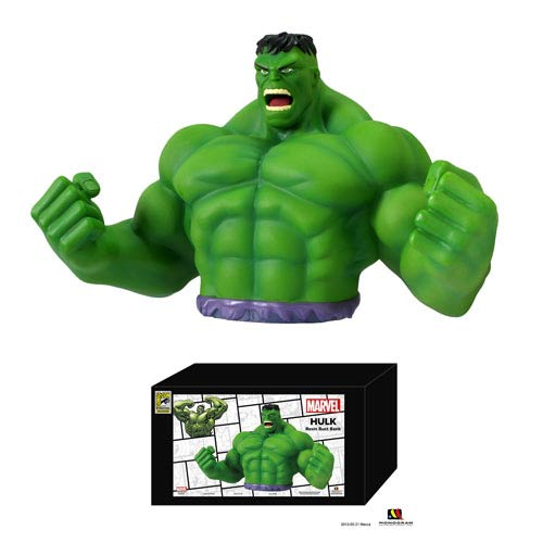 Hulk SDCC 2013 Exclusive Resin Bust Bank