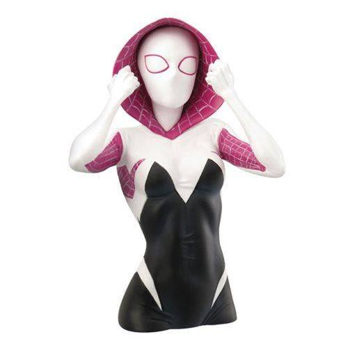Spider-Man Spider-Gwen Masked PVC Bust Bank