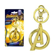 Avenger: Infinity War A Logo Gold Colored Pewter Key Chain