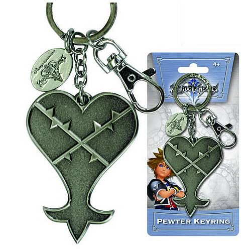 Kingdom Hearts Heartless Pewter Key Chain