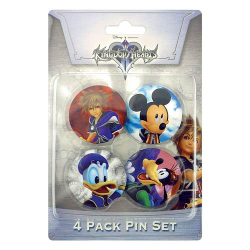 Kingdom Hearts Pin Set One 4-Pack