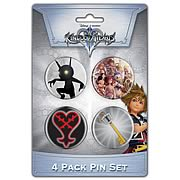 Kingdom Hearts Pin Set Two 4-Pack