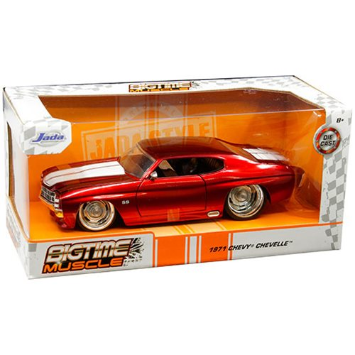 Bigtime Muscle Chevy 1971 Chevelle SS Red 1:24 Scale Die-Cast Vehicle