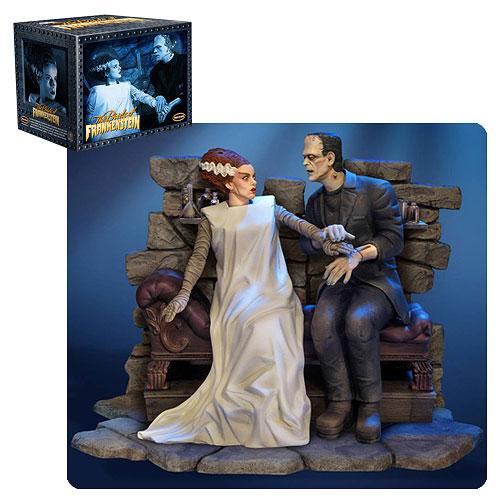 Bride Frankenstein Bride & Monster Statue