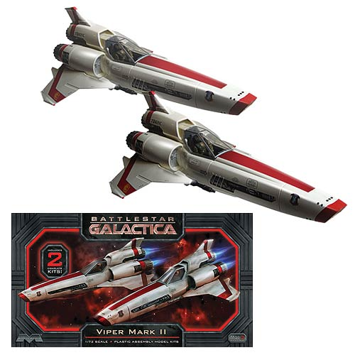 Battlestar Galactica Viper MKII 1:72 Scale Model Kit 2-Pack
