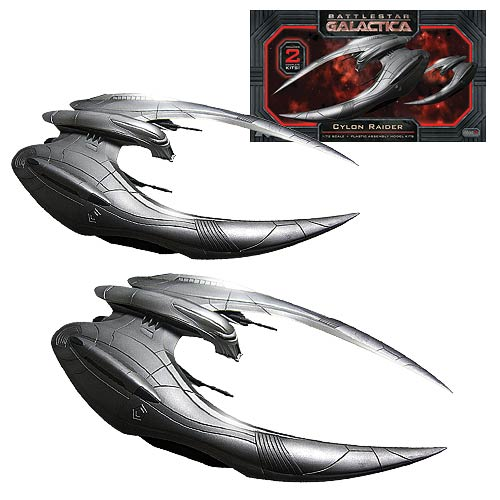 Battlestar Galactica Cylon Raider 1:72 Model Kit 2-Pack