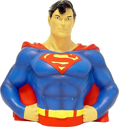 Superman Bust Bank