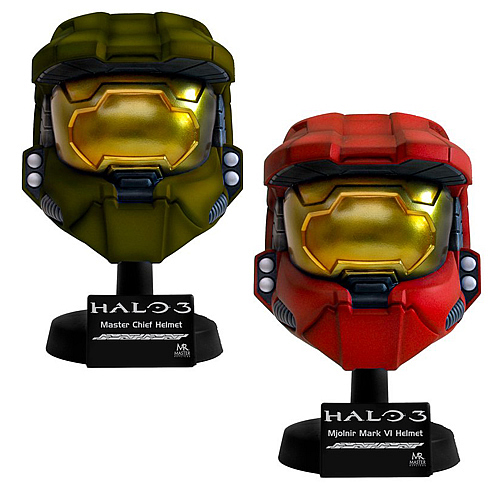 Halo 3 Master Chief Scaled Helmet Replica Set