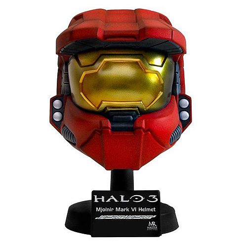 Halo 3 Master Chief Scaled Red Helmet Replica