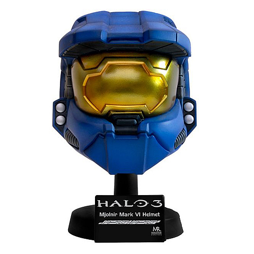 Halo 3 Master Chief Scaled Blue Helmet Replica