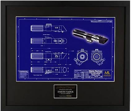 Darth Vader Saber Blueprint