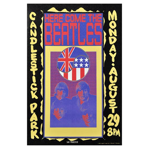 The Beatles Candlestick Park 1966 Ad Medium Canvas Print