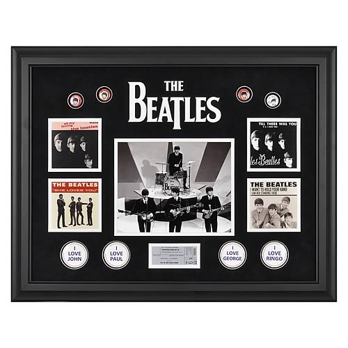 The Beatles On The Ed Sullivan Show Framed Photos