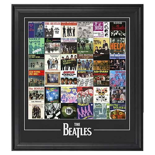 The Beatles Singles Around The World Framed Photos