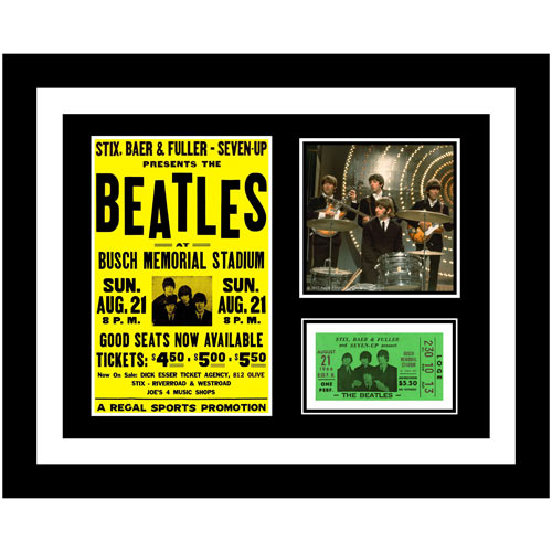 Beatles Live in St. Louis 1966 Framed Presentation