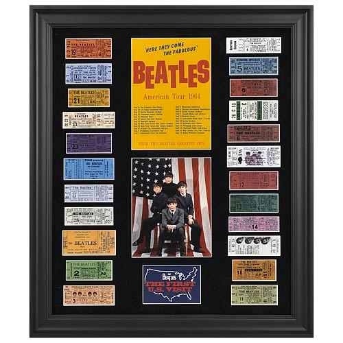 Beatles 1964 U.S. Tour with Tickets Framed Presentation