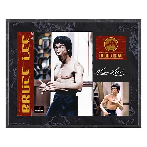 Bruce Lee The Little Dragon 8x10 Plaque