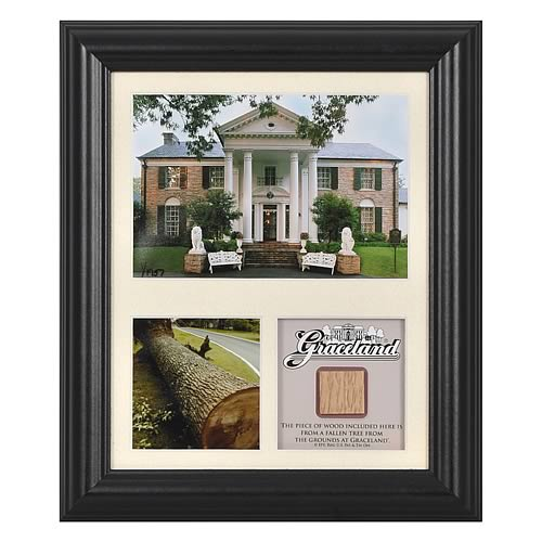 Elvis Presley Graceland Framed Photo with Piece of Tree