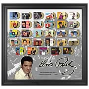 Elvis Presley Number One Hits Framed  with Gold Mini Records