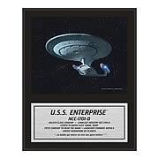 Star Trek The Next Generation Enterprise NCC-1701-D Plaque
