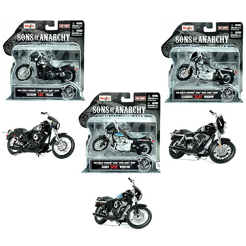 Sons of Anarchy 1:18 Scale Die-Cast Motorcycle Vehicle Set