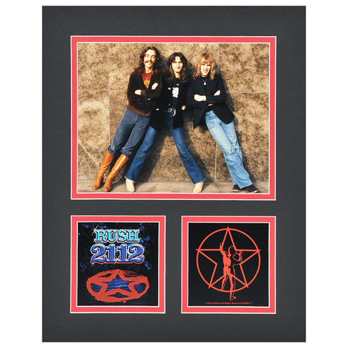 Rush Band 2112 Album Matted Photo
