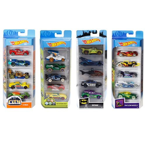 Hot Wheels 2019 5-Car Pack Wave 10 Case