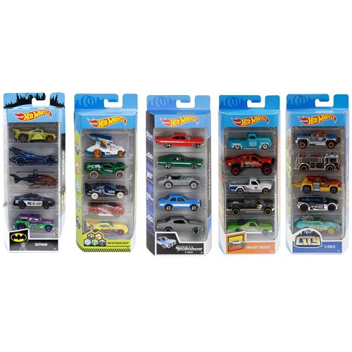 Hot Wheels 2019 5-Car Pack Wave 12 Case