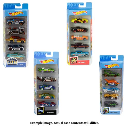 Hot Wheels 2019 5-Car Pack Wave 16 Case