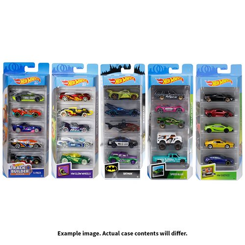 Hot Wheels 2019 5-Car Pack Wave 9 Case