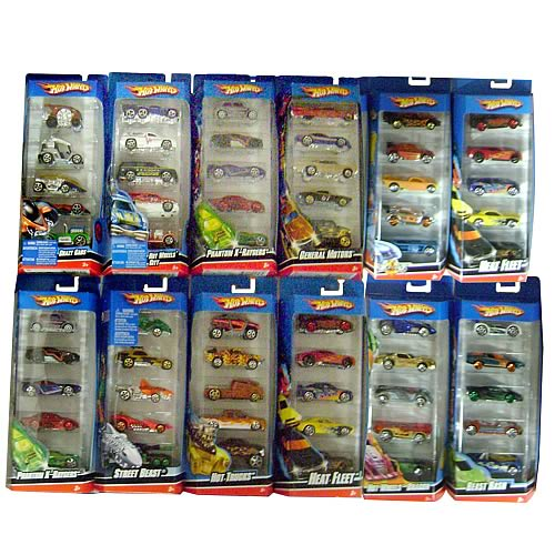 Hot Wheels 5-Car Pack Assortment Case