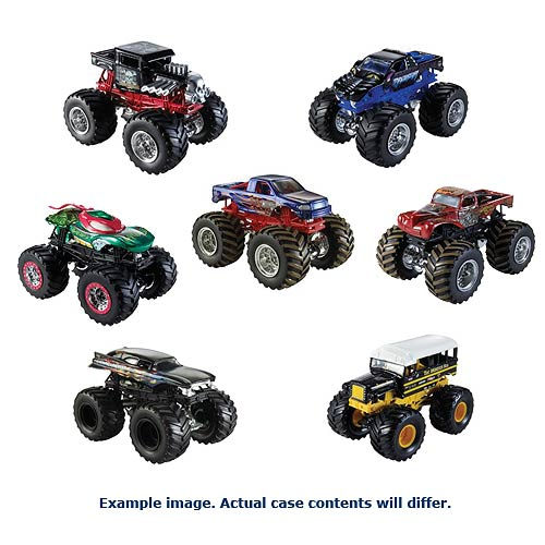 Hot Wheels Monster Jam 1:64 Scale 2014 Wave 1 Case