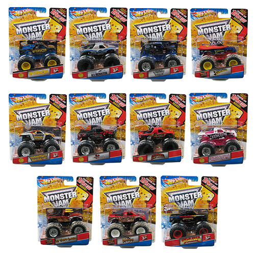 Hot Wheels Monster Jam 1:64 Scale 2014 Wave 3 Rev. 4 Case