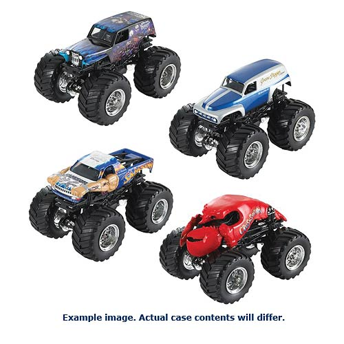 Hot Wheels Monster Jam 1:64 Scale 2014 Wave 4 Rev. 2 Case