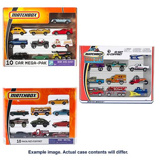Matchbox 10 Pack Assortment Vehicles Wave 1 Case