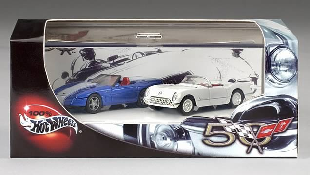 50th Anniv. Corvette 2-Car Set