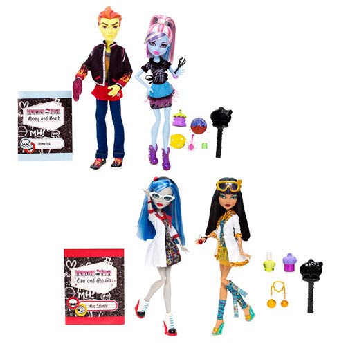 Monster High Classroom 2-Pack Dolls Wave 1 Set