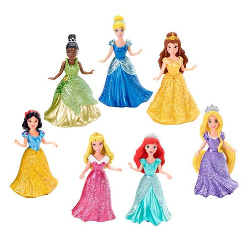 Disney Princesses MagiClip Princess Small Doll 7-Pack