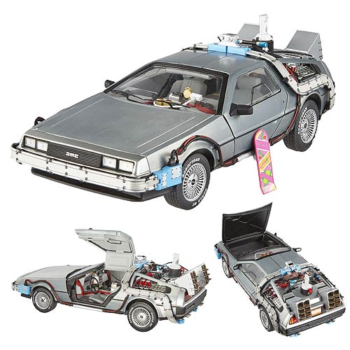 Back to the Future Elite 1:18 Scale Die-Cast DeLorean