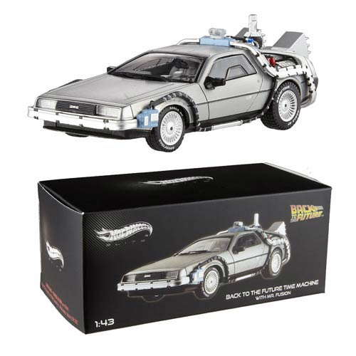 BTTF DeLorean w/ Mr. Fusion Hot Wheels Elite 1:43 Scale